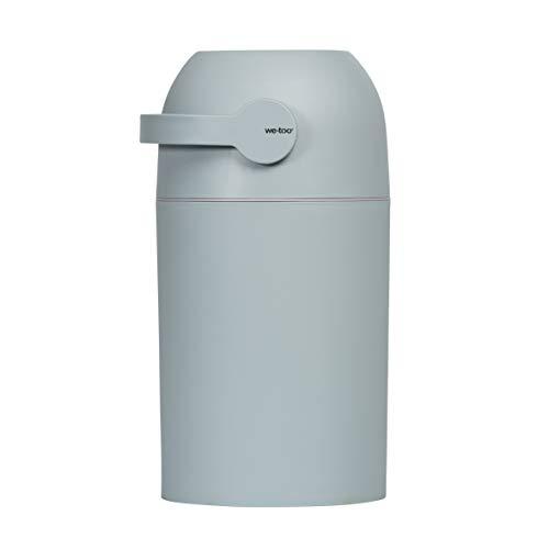 Set Kidsmill Windeleimer we-too Nordvik mit Stoffwindel von Kinderhaus Blaubär | Diaper Keeper mit Geruchsstop-System | für bis zu 25 Windeln | keine extra Nachfüllkassetten nötig, Design:mintgrün
