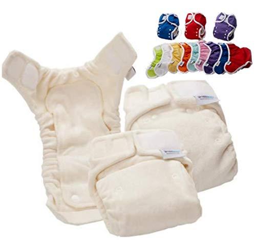 Bambinex Baby ** 10er KomplettSet BAMBOO NATUR OneSize Stoffwindeln ** inkl. Überhosen, Windelvlies, Einlagen und Co.
