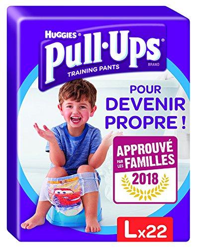 Huggies - Pull-Ups, Windelhöschen für Jungen, Größe 6/ groß (16-23 kg), Nachtwindelhöschen für Sauberkeitstraining, Disney-Autos (1 Packung, 22 Stück)