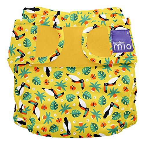 Bambino Mio, miosoft windelüberhose, tropischer tukan, Größe 1 (<9kg)